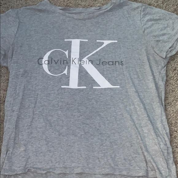 Calvin Klein Tops - Calvin Klein grey t shirt